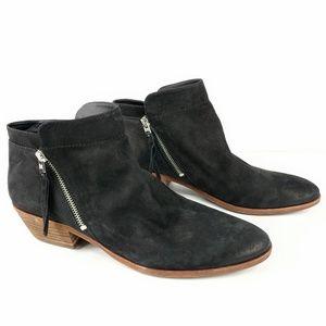 Sam Edelman Womens Booties Size 12 Zip Up Black